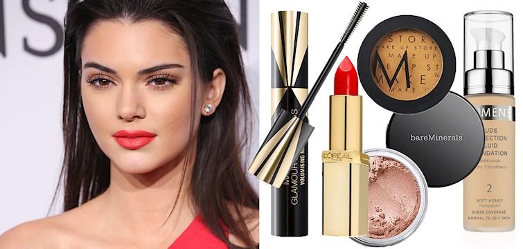 Det är väl inte någon välbevarad hemlighet att systrarna Kardashian/Jenner är mästare på att sminka sig. Här får ni 10 tips på produkter för att bli en Kendall lookalike!