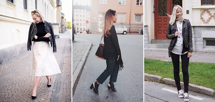 Varmare jackor, bootcut jeans och lårhöga stövlar. Hösten är här och det ser vi på våra bloggare outfits och inte minst på trädens alla färgglada löv. Häng med och inspireras!