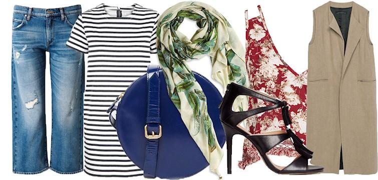Randigt, blommigt och blåjeans. Vårens färger och mönster tar plats i butikerna och här listar vi 10 favoriter i butik just nu.