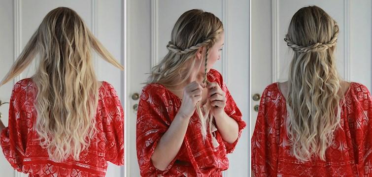 Festivalsäsongen är snart igång igen och frågan man ställer sig är då hur man stylar håret snyggast? Hårexperten Elvira guidar oss i en steg för steg guide till den perfekta boho-chica festivallooken