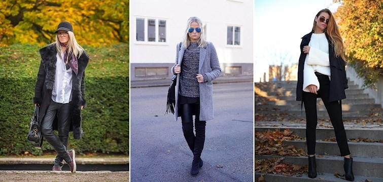 Gråa kappor, scarfer och over knee boots ser vi på bloggarna denna vecka. Kika in här för att få inspiration till din nästa outfit!