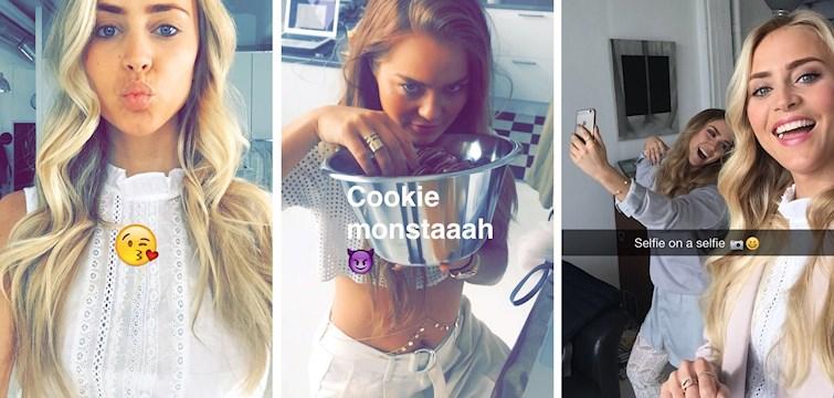 Det trendigaste sociala mediet just nu måste nästan vara snapchat. Många svenska bloggare har börjat öppna upp sina konton för omgivning och för att på så sätt dela med sig av spontana bilder och videos ifrån deras vardag. Bra idé tycker vi, törstigare än någonsin på att ta del av deras privatare liv!