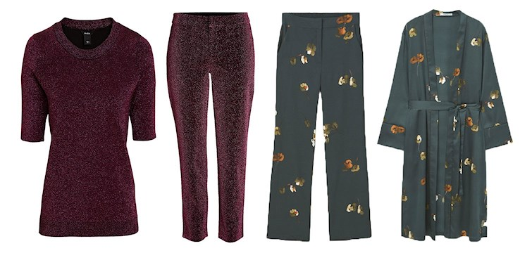 I höst är matchande set moderiktig och helt rätt. Blommiga, glittriga eller mönstrade, - gärna pyjamasinspirerade i sidentyg. Med andra ord en trend som är skön och avslappnad. Här är våra favoriter i butik!
