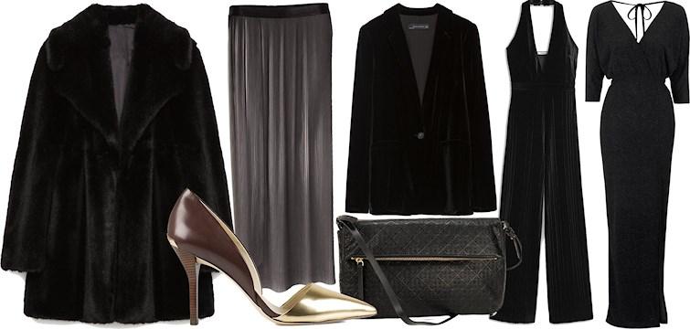 Sammet, fuskpälsar och skimriga klänningar är det som gäller just nu. Behöver du få inspiration till din party-garderob så borde du verkligen klicka dig in här!