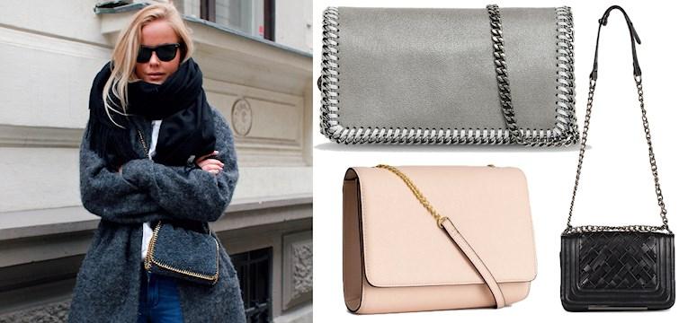 En het trend vi gärna hoppar på just nu är att bära en liten cross-body bag under jackan. Här tipsar vi om några av våra favoriter!