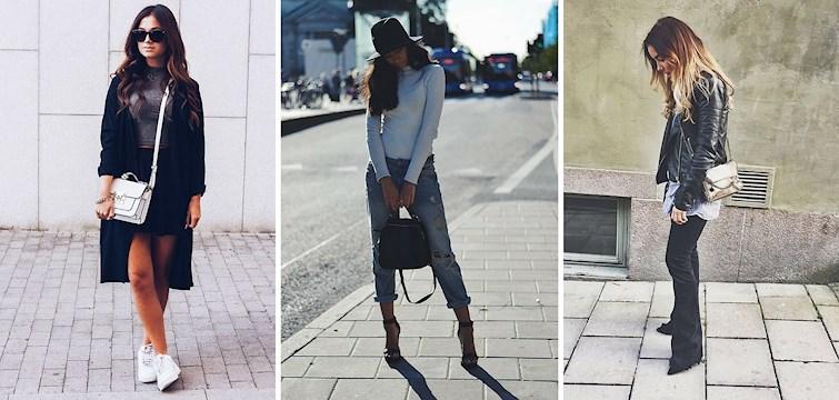 Kyligare temperaturer har nått oss och vi ser mer och mer långbyxor och snygga jackor på Nouw bloggarna men fortfarande har vi några lyckliga få som befinner sig utomlands på semester. Skinnjackor och slitna jeans och allt i svart går hem den här veckan!