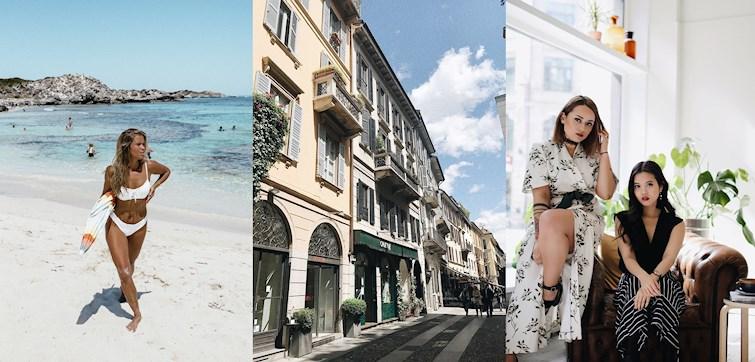 W zeszłym tygodniu nasze międzynarodowe blogerki zaprojektowały własną linię strojów kąpielowych, cieszyły się słońcem i pokazały się w romantycznej stylizacji.