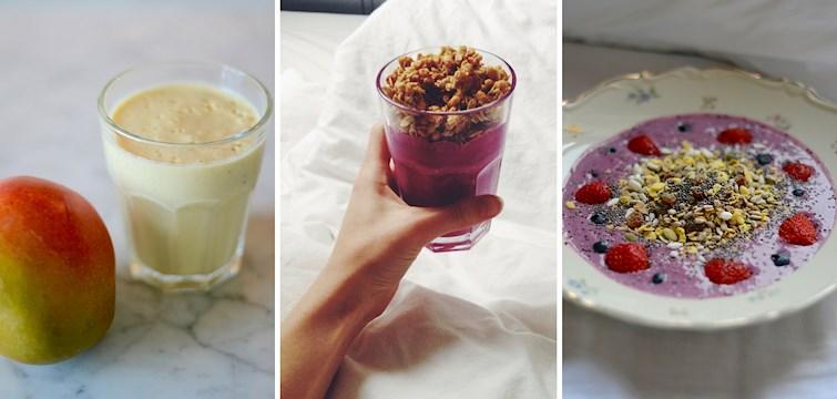 Idag bjuder Nouw er på 3 lätta smoothie recept att kicka igång din måndag med!