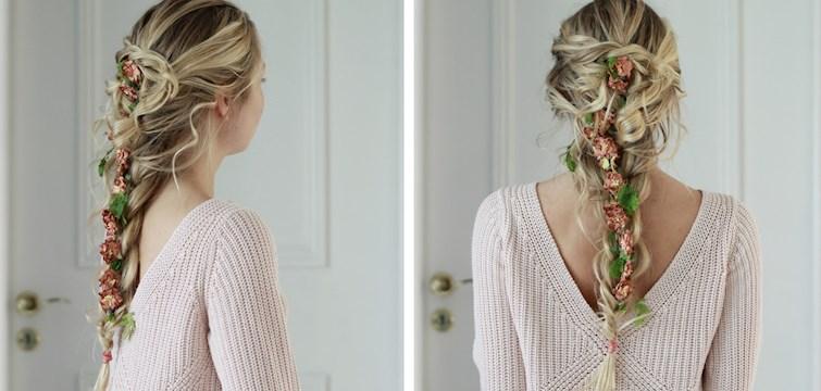I detta reportage guidar Nouws bloggerska Elvira er hur man fixar den härligaste midsommarfrisyren med blommor i håret!