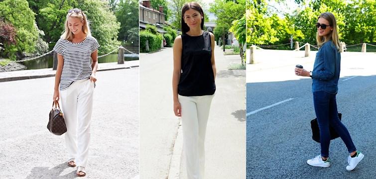 Vi ser vita byxor, färgglatt & bara ben. Det skriker sommar om våra Nouwares outfits denna vecka!