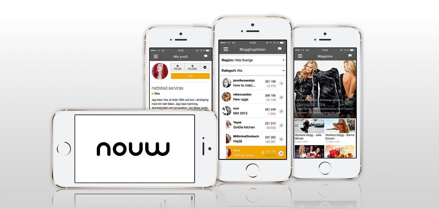 Blogg via mobil på Nouw