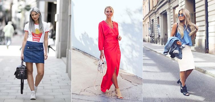 Har ni missat hur modebloggarna klätt sig den gångna veckan? Det är bara ben, långklänningar, spets och blommönster och jag lovar en inspirationsdos utöver de vanliga!