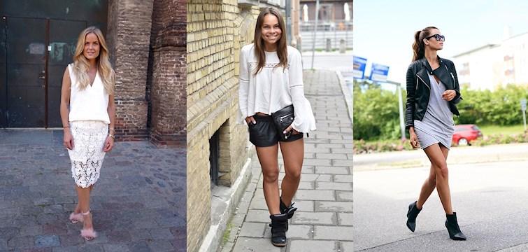Vitt och spets blandat med tuffare outfits som skinnjacka och boots är vad bloggarna bjuder på denna vecka. Häng med och inspireras!