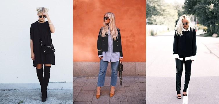 Ljusa jeans, svarta collegetröjor och nakna axlar ser vi mycket av denna veckan hos våra bloggare. Är du sugen på att inspireras lite? Kika in här och kolla veckans Nouw outfits.