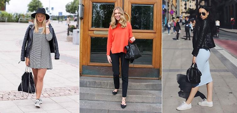 Remsandaler, figurnära knälånga kjolar och en skinnjacka att värma sig i. Här är våra bloggares mest inspirerande outfts från veckan som gått.