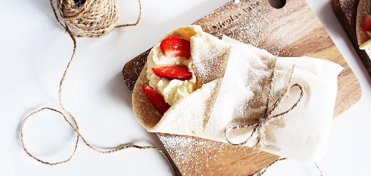 Recept på semmelwraps med jordgubbar featured image
