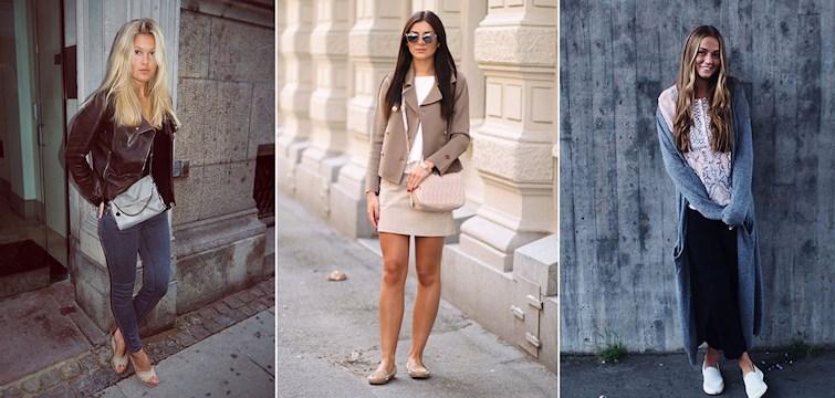 Långkoftor, toner av beige, virkat och skinnjackor. Såhär har det sett ut klädmässigt för våra Nouw bloggare den gångna veckan.