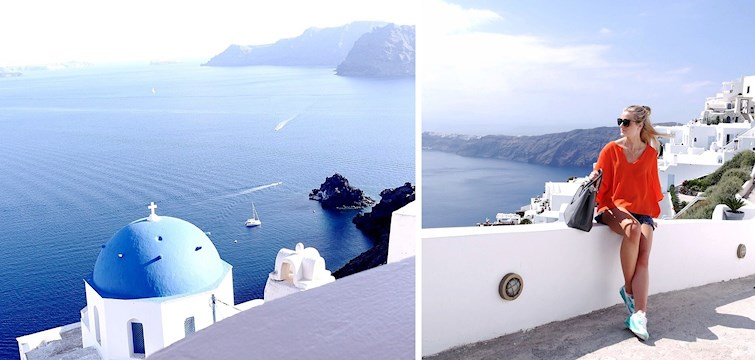I denne reportasjen tipser Synne dere om tips og sine favorittplasser på romantiske Santorini.