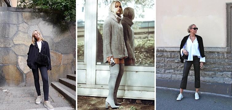 Dova färger, stickade tröjor, ankellånga skinnbyxor och sneakers i alla färger. Denna vecka kan vi inspireras av höstmodet ifrån våra bloggare.