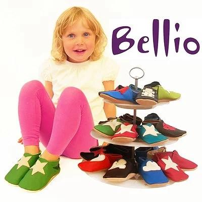 Bellio en svensk ekologisk barntoffel i läder helt utan