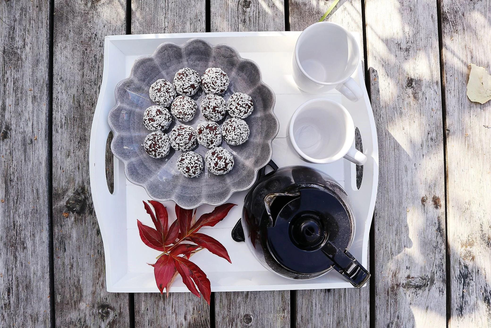 Lite nyttigare chokladbollar