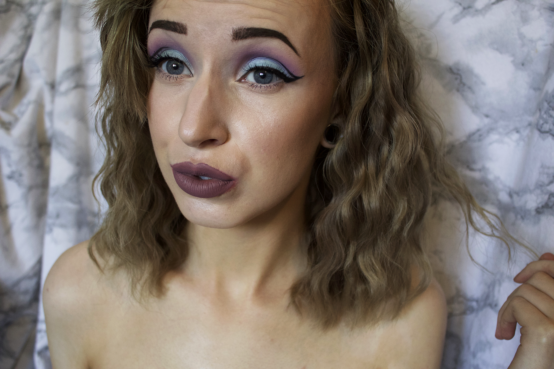 Makeup look: Blue and Purple