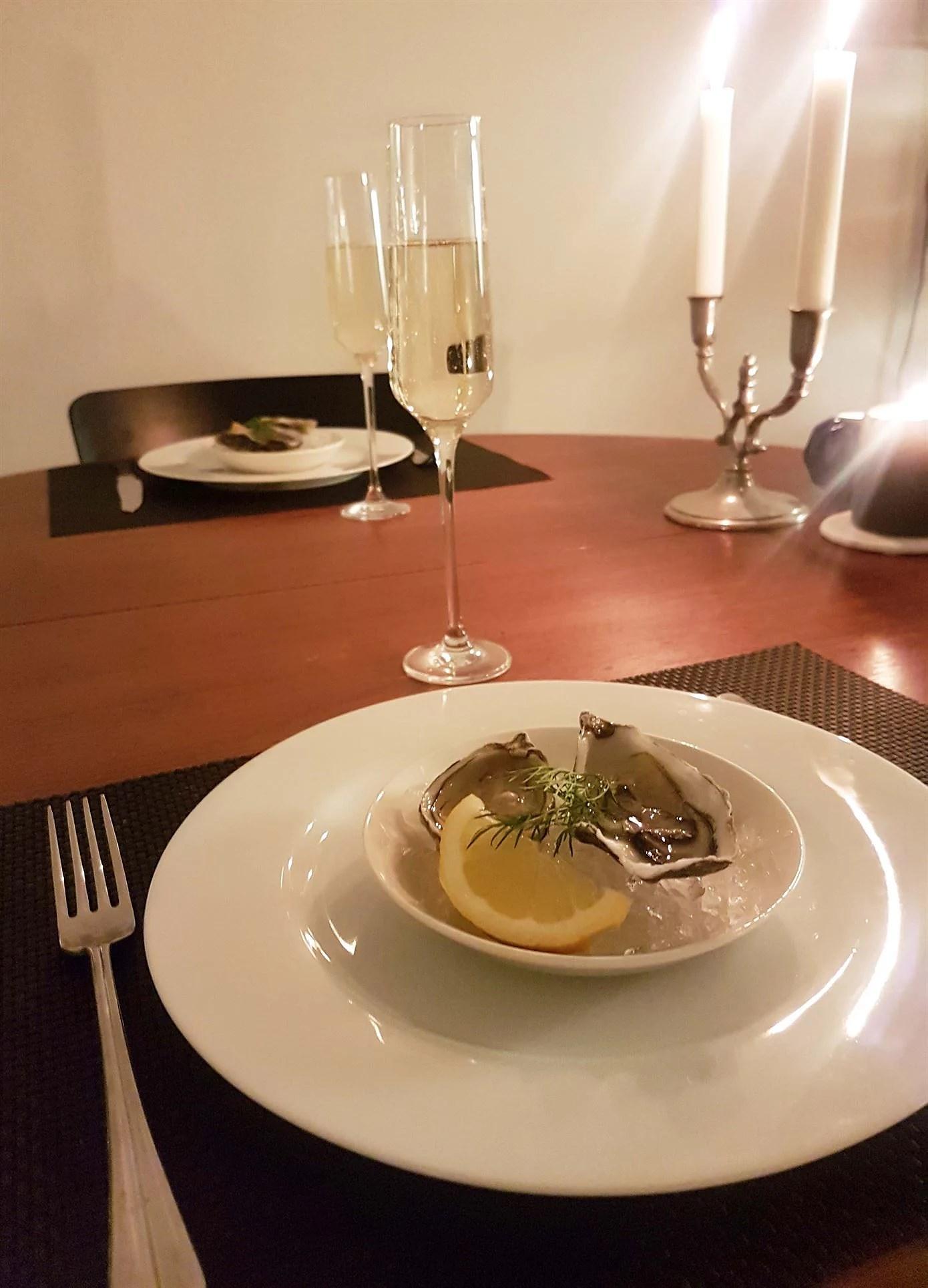Ostron och bubbel