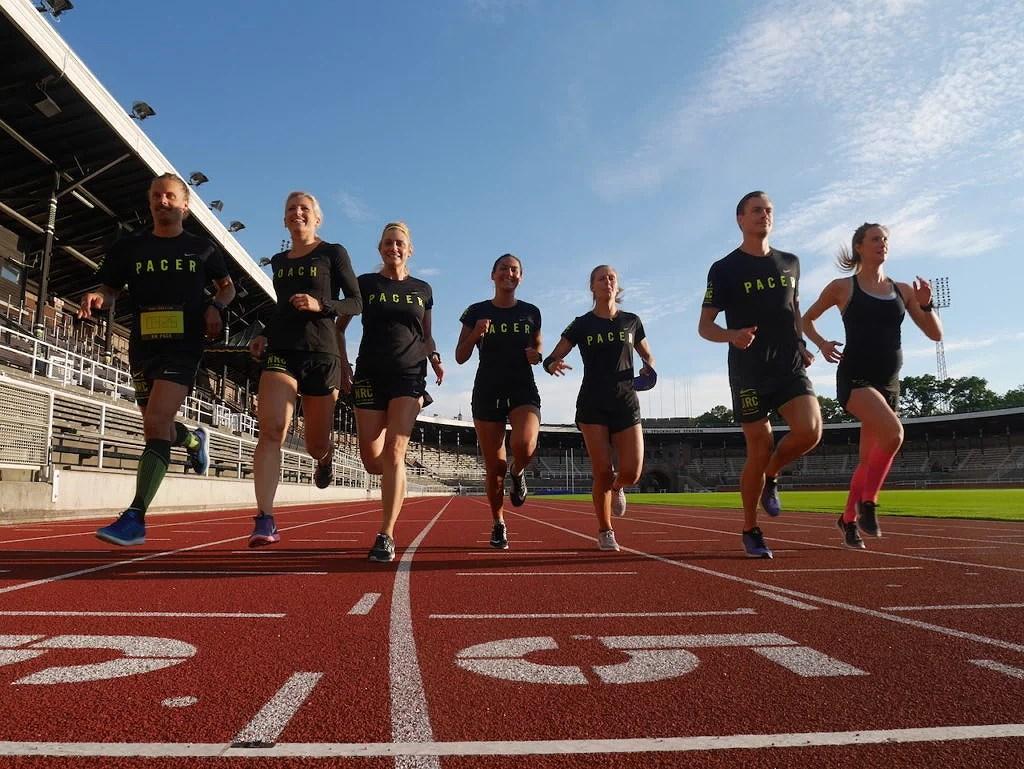 Dagens pacer team: Tommy, jag (coachade), Veronica, Julia, Jessica, Mathias och Ida!