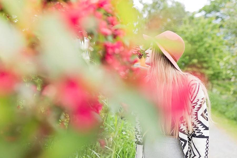 krist.in sommer blomster foto