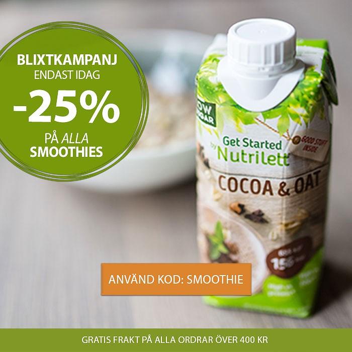Nutrilett 25% rabatt på alla smoothies