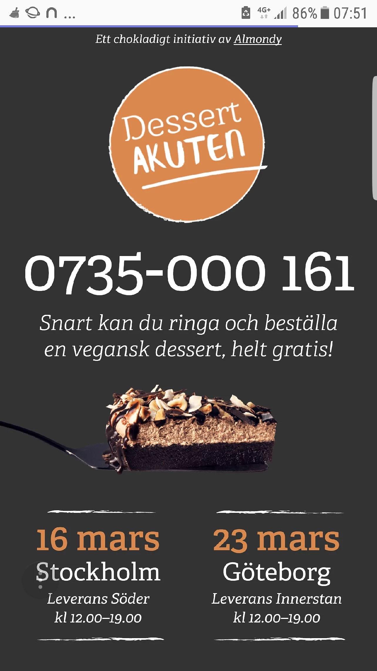 Gratis Almondy nu på lördag i Stockholm
