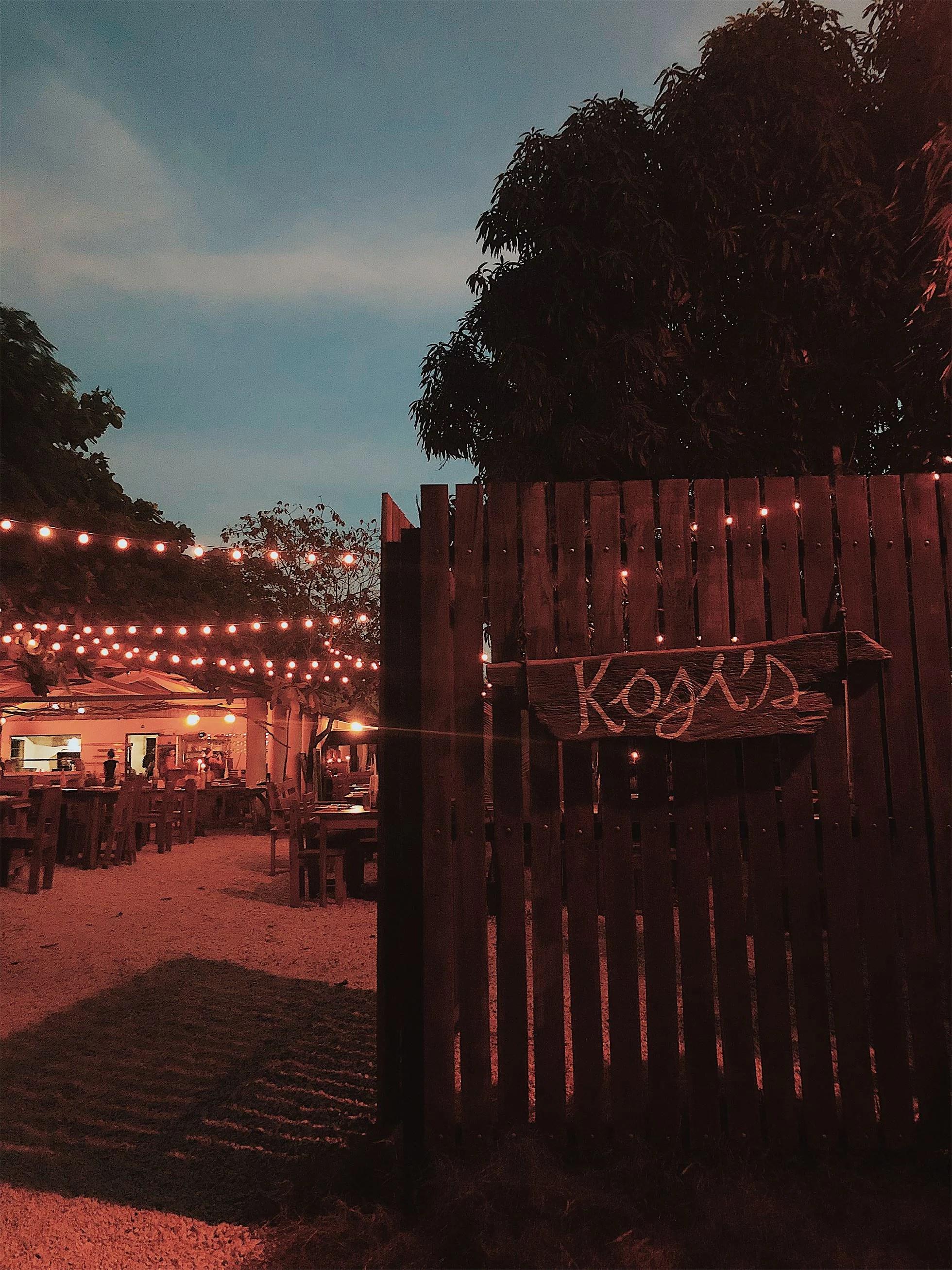 W - DINNER AT KOJI'S