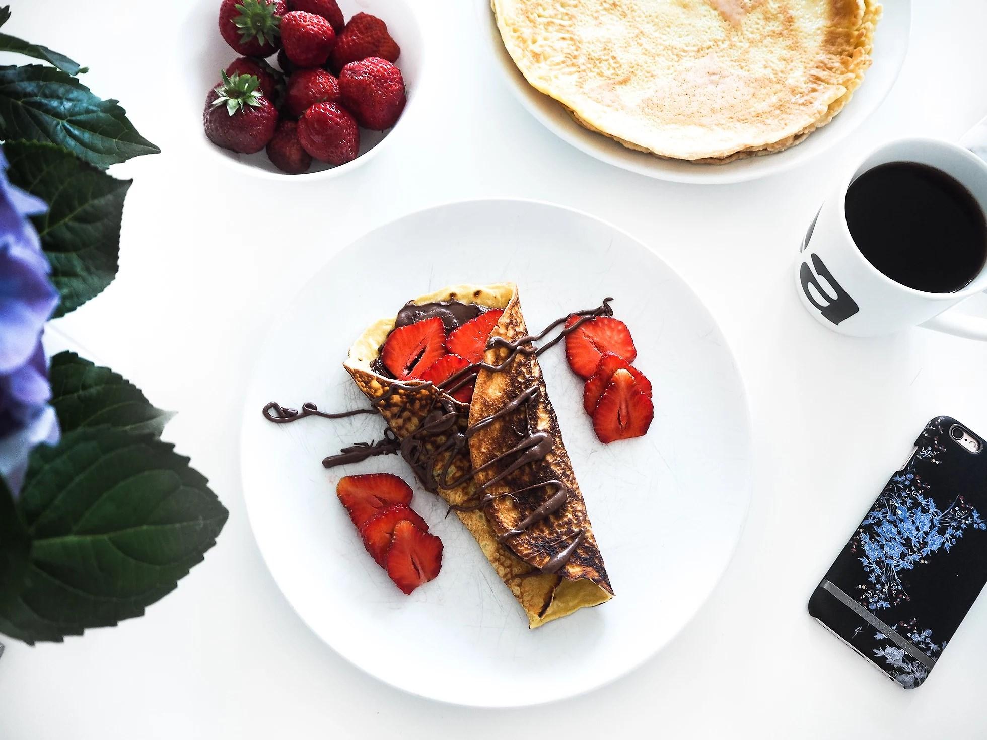 Pannekaker til frokost, lunsj og middag