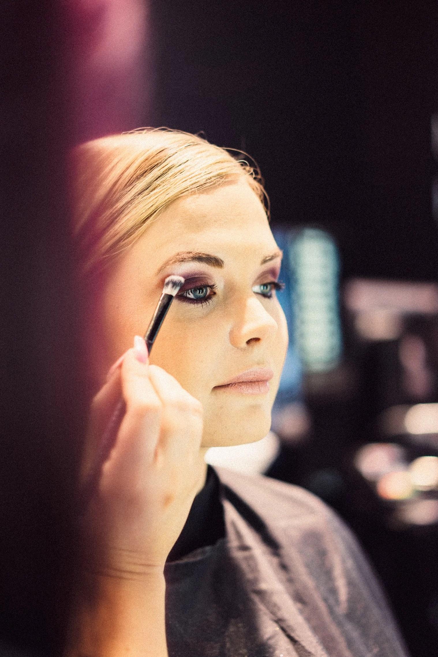 Makeup inför Asecs Magasin