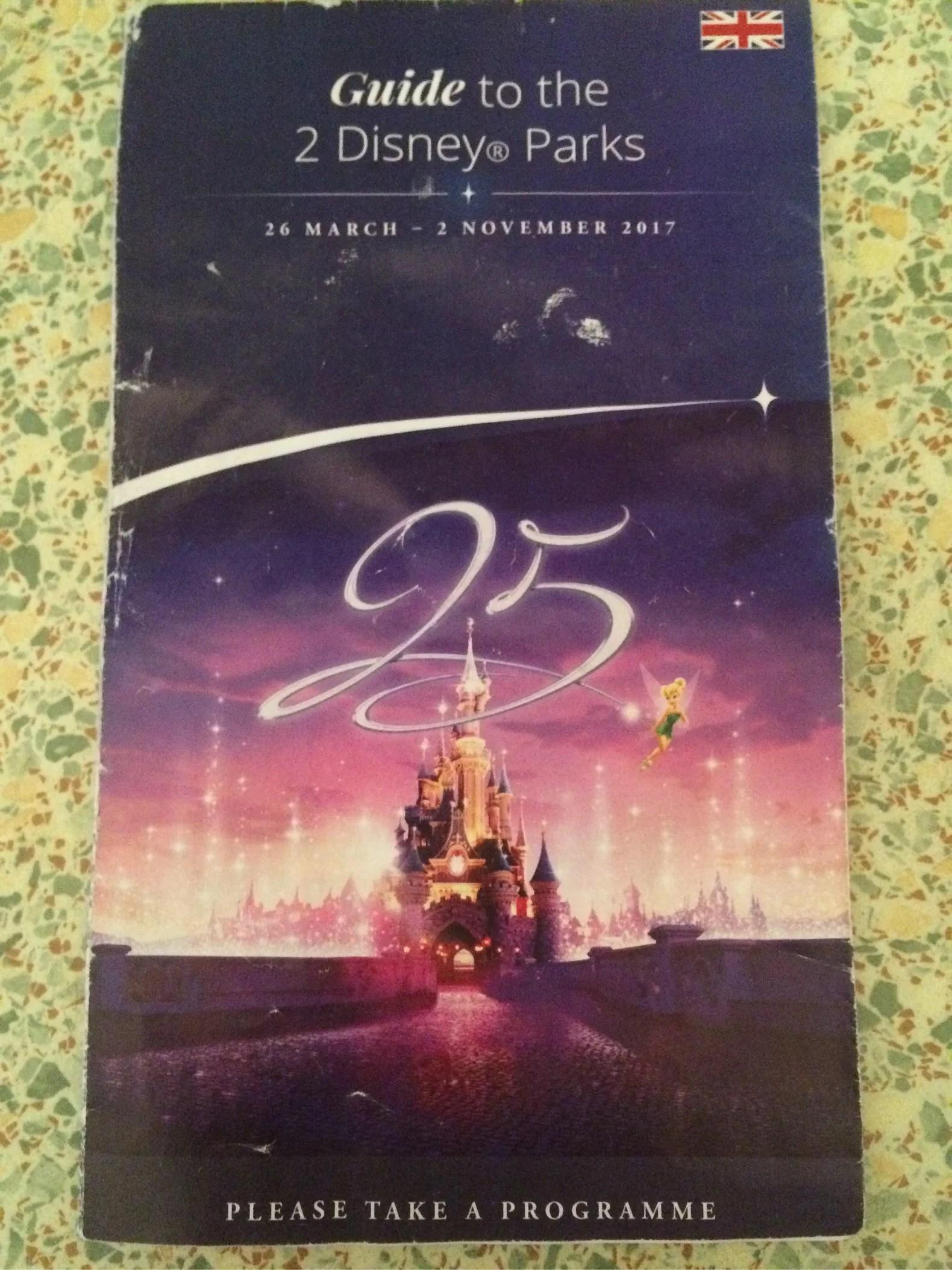 Broschyr - Guide Maps till Disneyland Paris (EuroDisney)