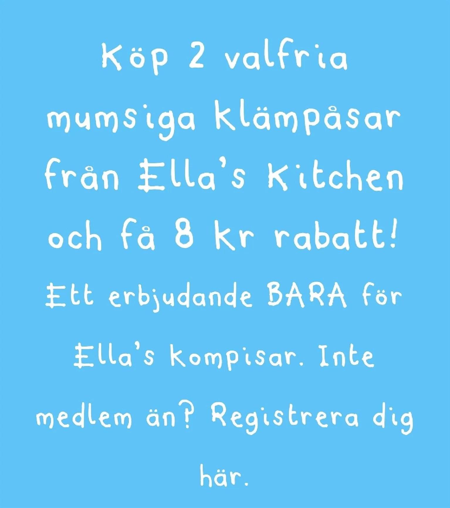 Rabattkupong på Ellas kitchen