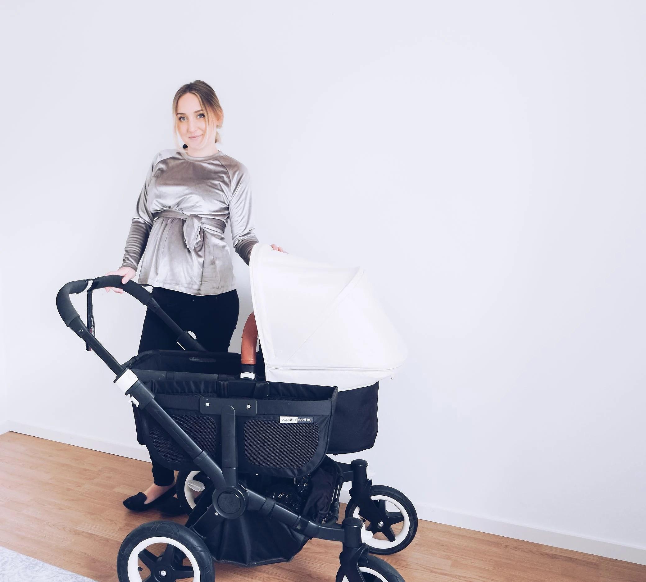 mamma, bebis & vagn