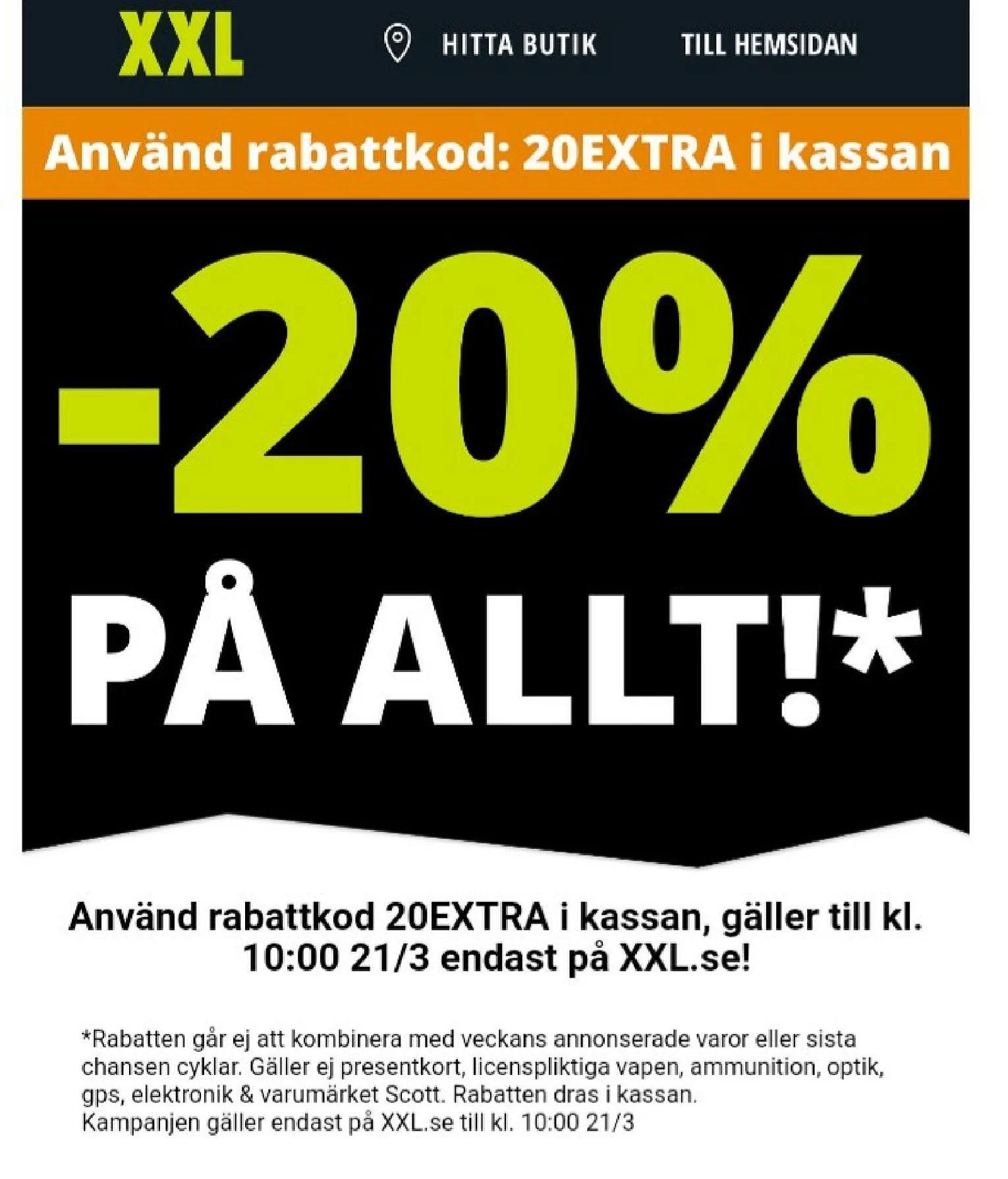 XXL 20%