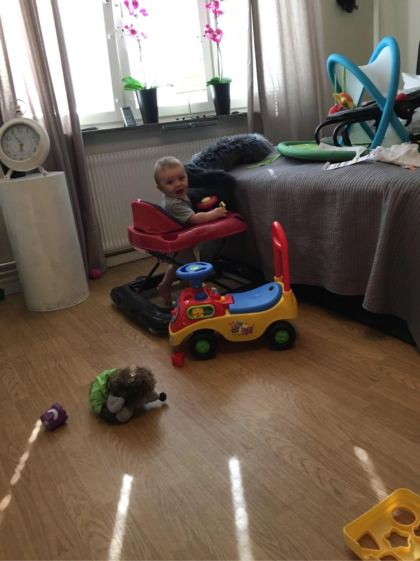 Trött bebis