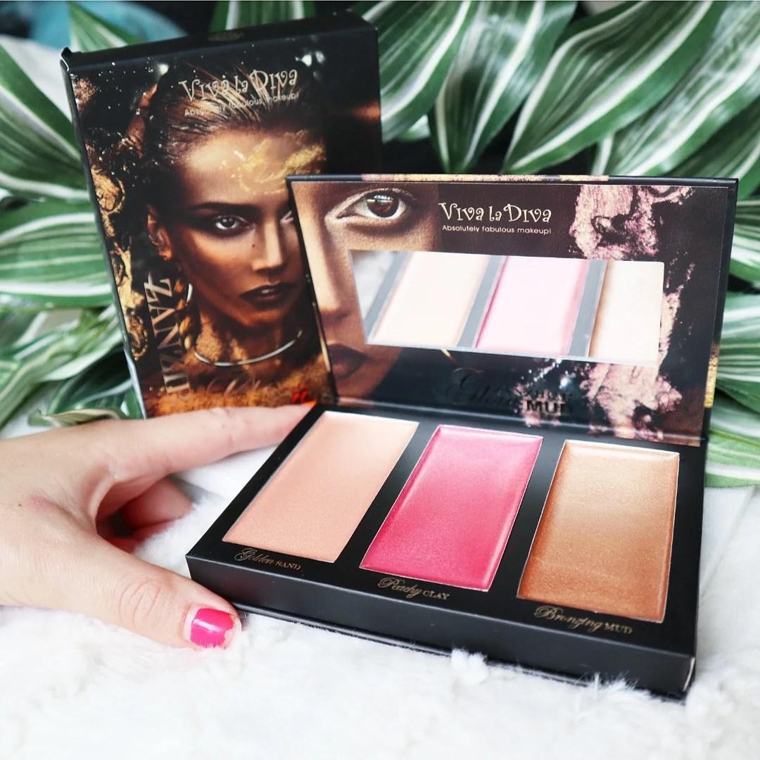 Viva La Diva Zanzibar Glow Mud Kit + swatches