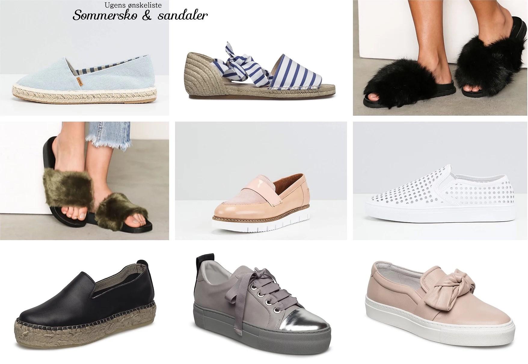 UGENS ØNSKELISTE // Sommersko & sandaler