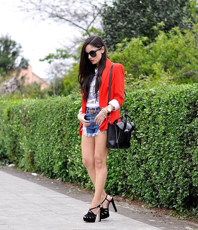Red Zara Blazer_07