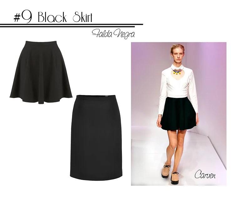 9 black skirt