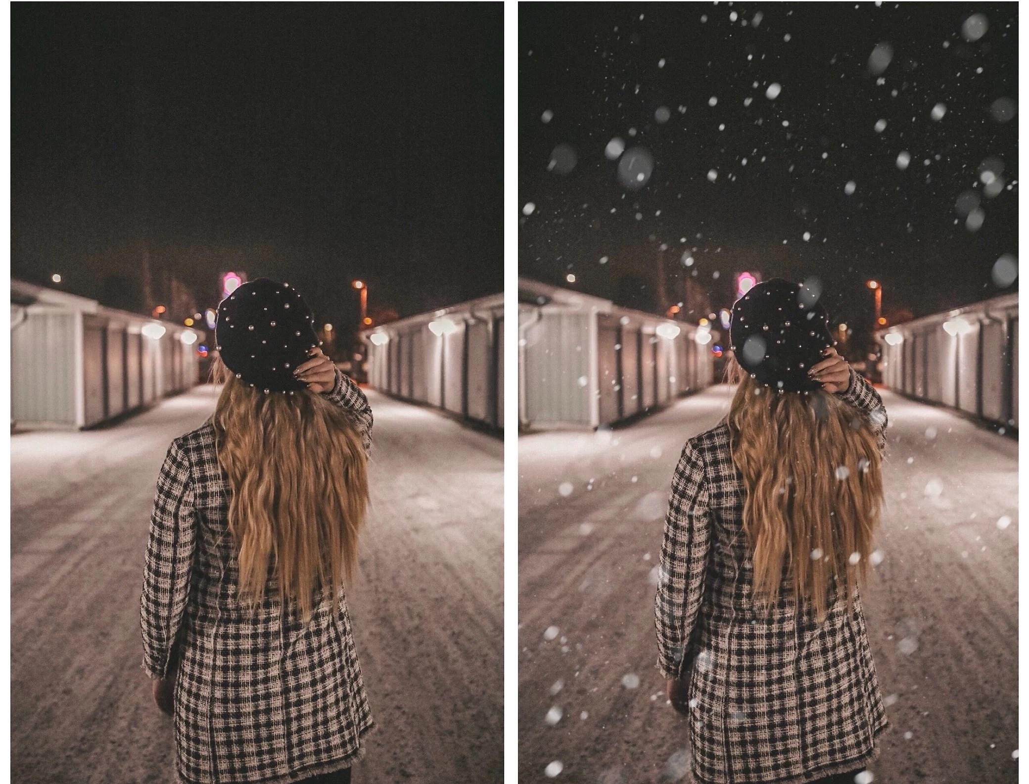 Redigera dit snö på bilder - enkelt i mobilen!