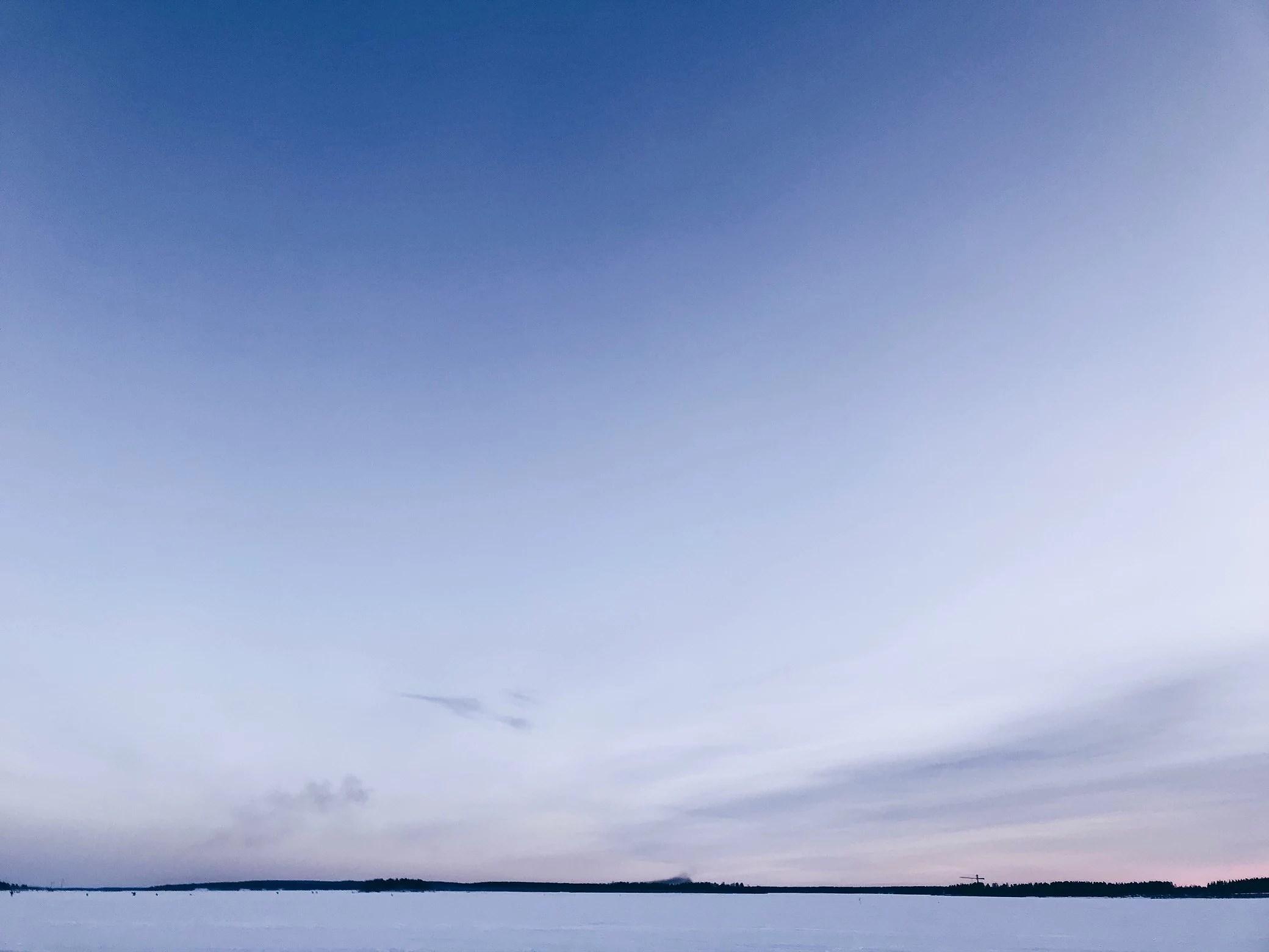Promenad på isen
