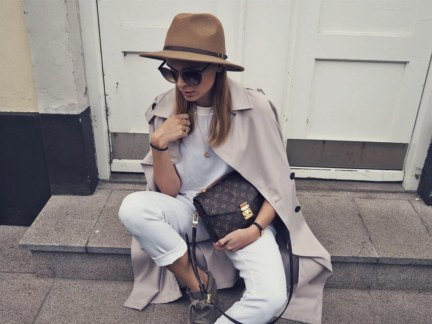 WHITE LOOK & FEDORA HAT