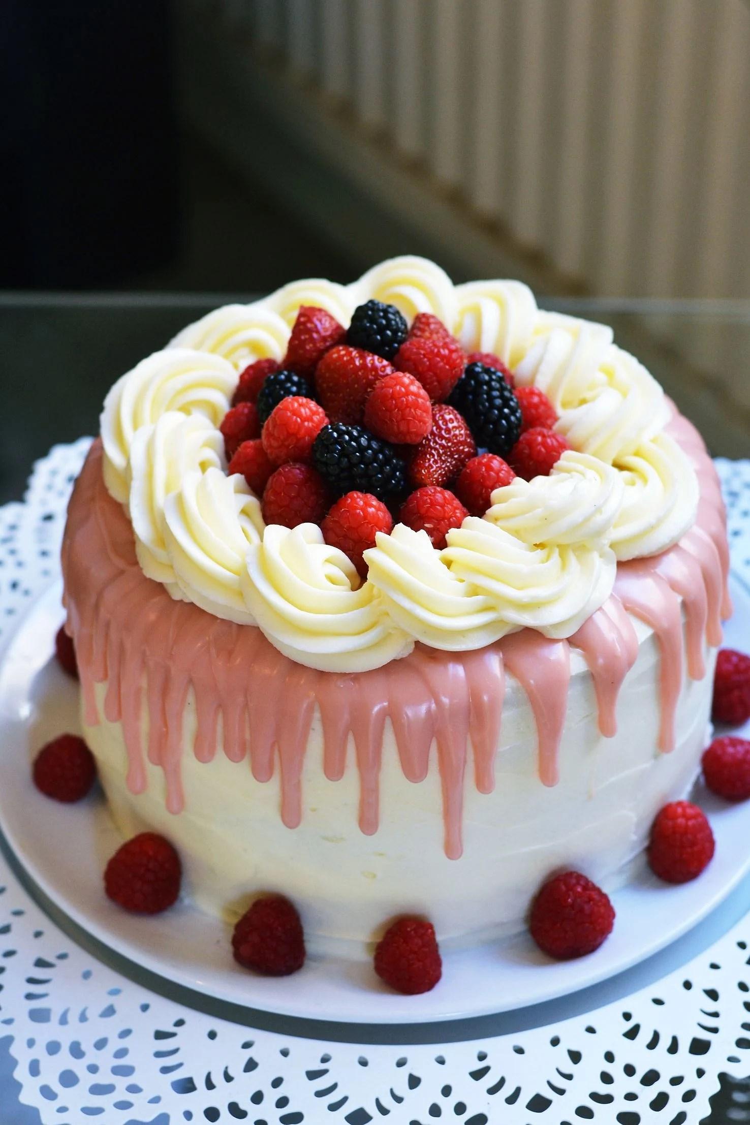 Summer Berries Cake