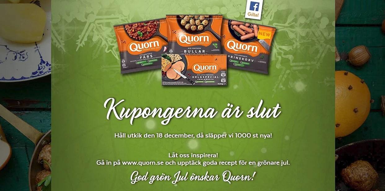 Gratis ovo-vegetariskt från Qourn