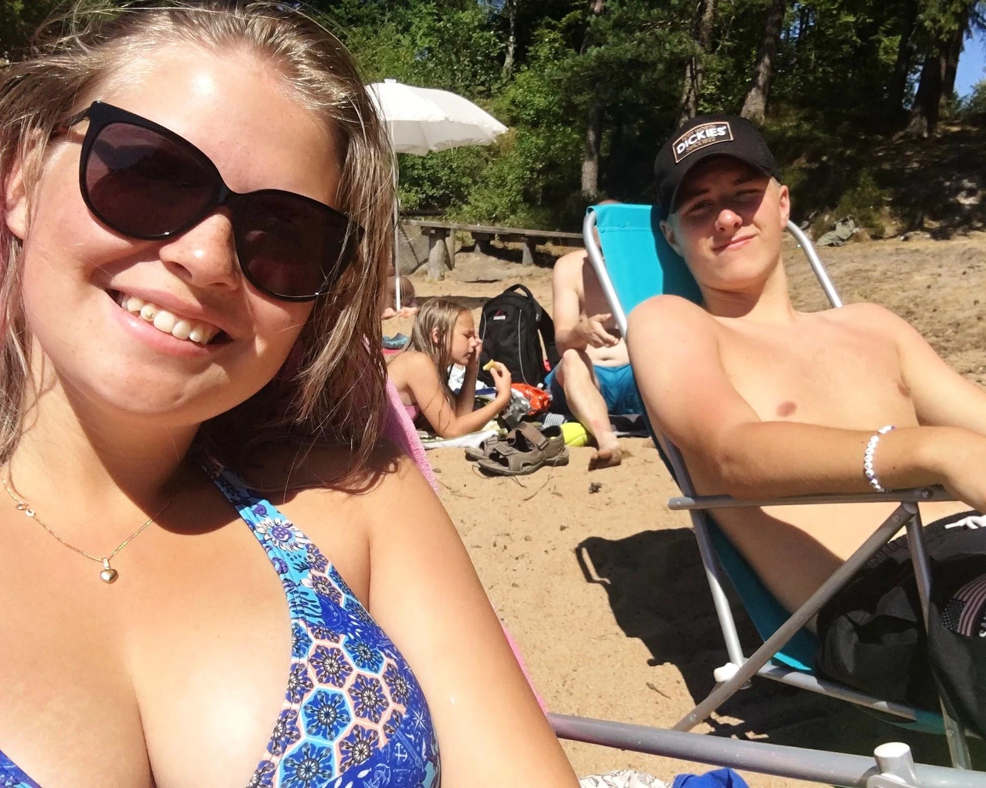 Det blev en dag på stranden
