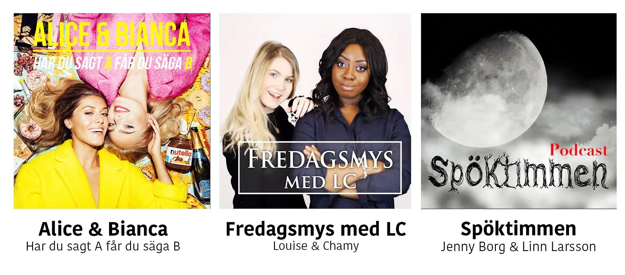 3 favoritlåtar, 3 favoritpodcasts